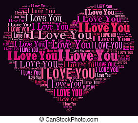 I Love you heart illustration