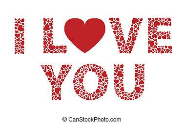 I Love You - I love you valentines hearts