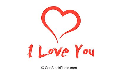 I Love You Icon with a heart.