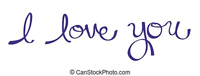 I Love You in Purple