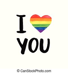 I love You. Inspirational Gay Pride poster