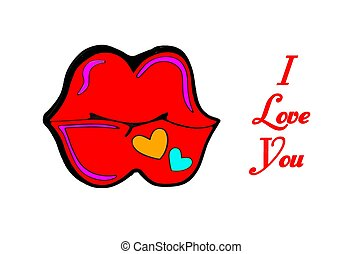 Funny i love you kiss card