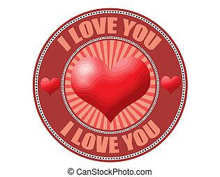 I love you label