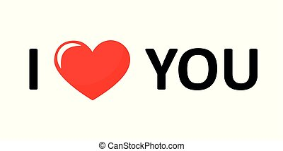 I love you lettering black text with red heart