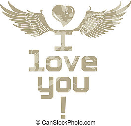 I Love You, lettering