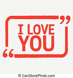 I LOVE YOU Lettering Illustration design