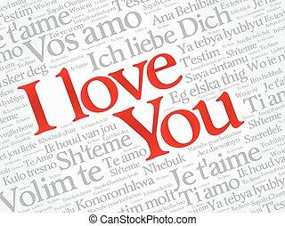 I LOVE YOU, Love word cloud