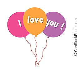 I Love You Message Balloons