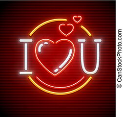 I love you message made of hearts - I love you message made...
