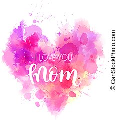 I love you mom heart