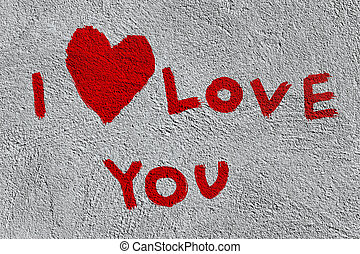 I love you on the wall