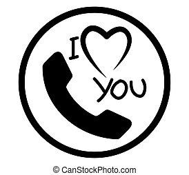 I Love You Phone Icon