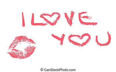I love you and kiss