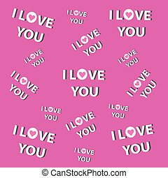 I love you- pink background