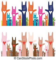 I Love You Sign Language - An image of a sign language hand...