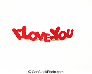 I Love You spelled out with hearts seperating the words. ...