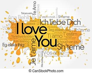 """I love you"" splash"