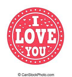 I love you stamp
