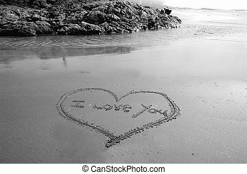 i love you - I love you written in the sand