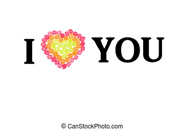i love you sweet jelly heart for valentine day