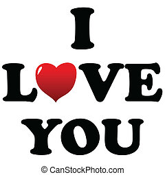 I love you symbol isolated on a white