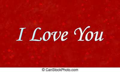 """I Love You"" text on red background"
