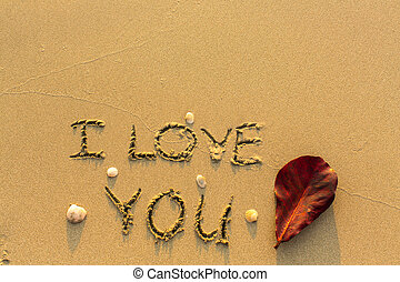 i love you text written