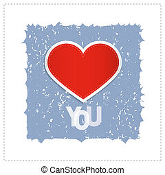 I Love You Theme With Red Heart Made From Paper