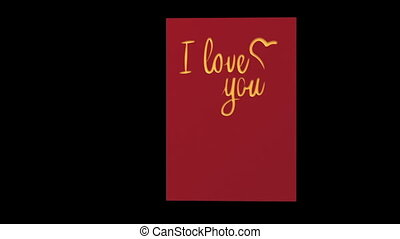 I LOVE YOU %u2013 blank  post card ready