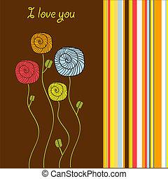 i love you - valentine card