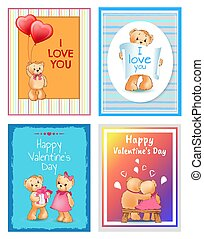 I Love You Valentines Day Vector Illustration