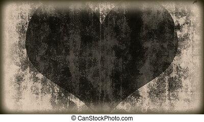 I love you - vintage - heart