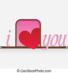 i love you with heart background