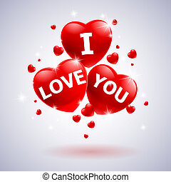 I love you with heart