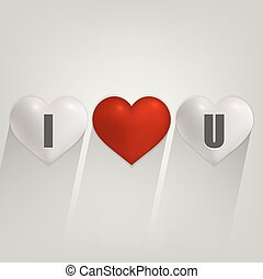 I love you with heart.