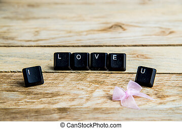 I love you word on the wooden floor10