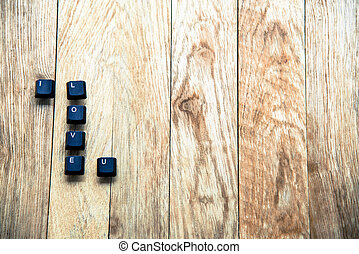 I love you word on the wooden floor11