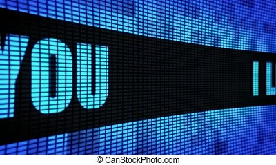 I Love Your Side Text Scrolling LED Wall Pannel Display Sign...