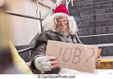Serious poor man needing a job