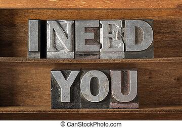 I need you tray