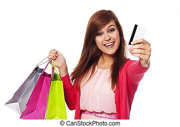 i, pagar, por, cartão crédito, para, meu, shopping