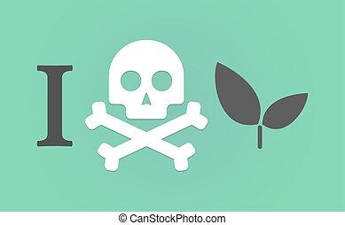 """""""i, pianta, like"""", geroglifico, non faccia"""
