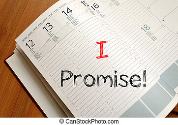 I promise write on notebook - I promise text concept write ...