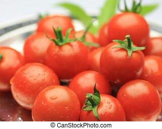 mini-tomato - I put mini-tomatoes in a tray and turned it...