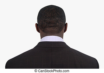 I Quit - This is an image of a businessman with his back...