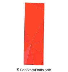 I red alphabet vector letter