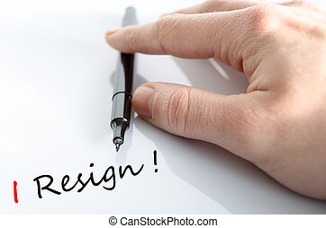 I Resign Concept Isolated Over White Background