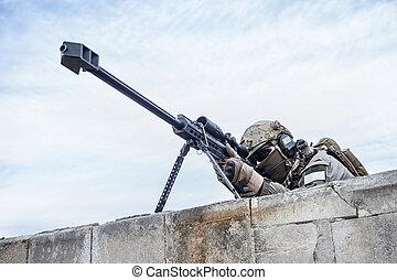 i. s., hær, snigskytte