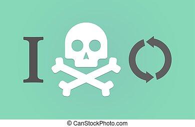 """""""i, segno, non faccia, riciclare, like"""", geroglifico, rotondo"""