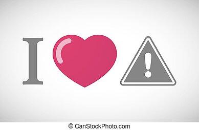 """""""i, signaal, waarschuwend, hiëroglief, love"""""""